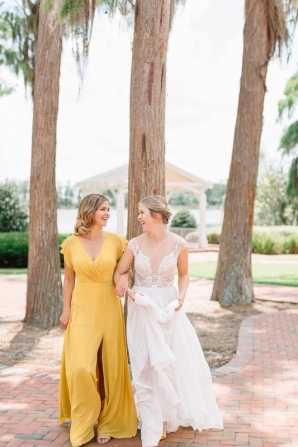 Bridesmaid in Yellow