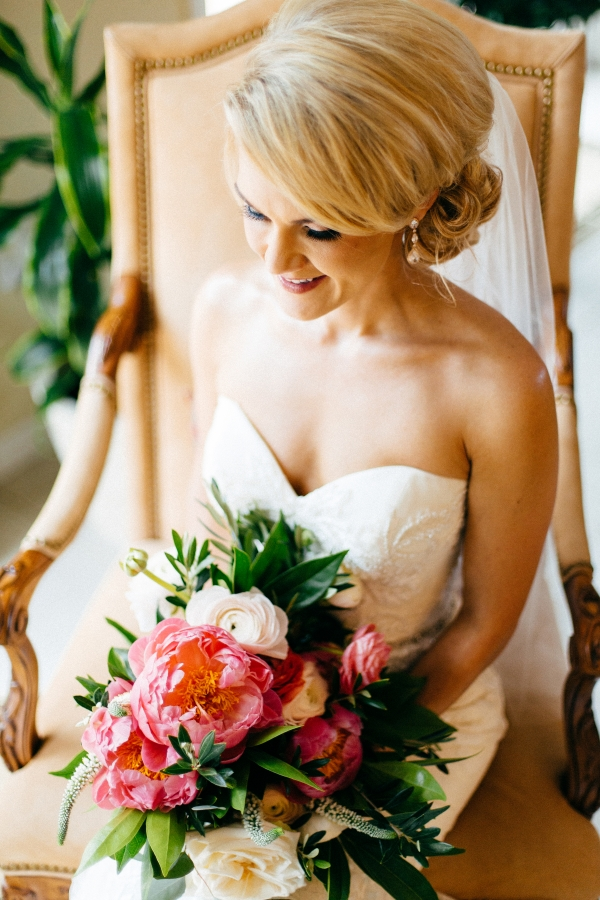 Coral Charm Peony Bride Bouquet