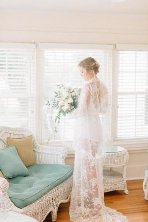 Elegant Bridal Robe