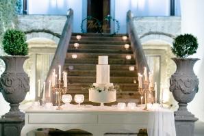 Elegant Cake Table at Wedding