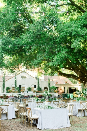 Elegant Sarasota Garden Wedding Reception