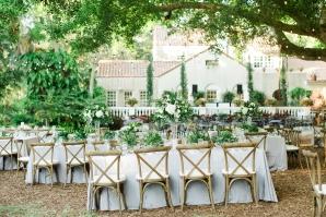 Florida Outdoor Wedding Reception in Garden