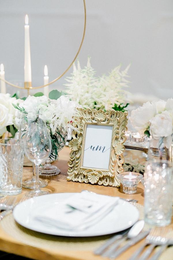 Framed Table Number for Wedding