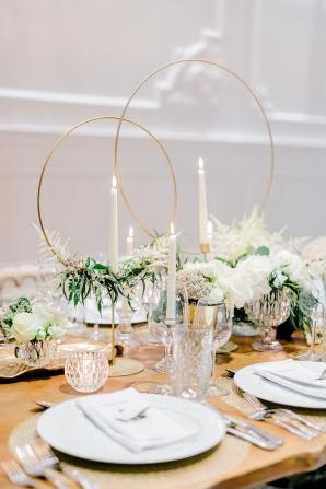 Geometric Wedding Centerpiece