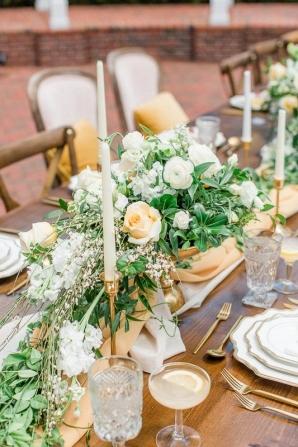 Gold Yellow Green Wedding Table