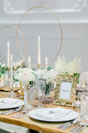 Gold and Green Geometric Wedding