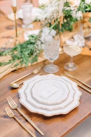 Gold and White Wedding China