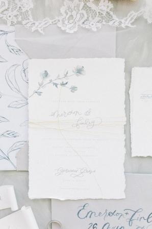 Gray and Dusty Blue Wedding Invitations