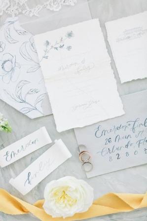 Gray and Navy Wedding Stationery