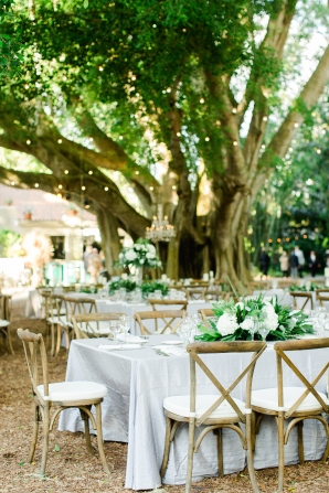 Green and Soft Gray Wedding Reception
