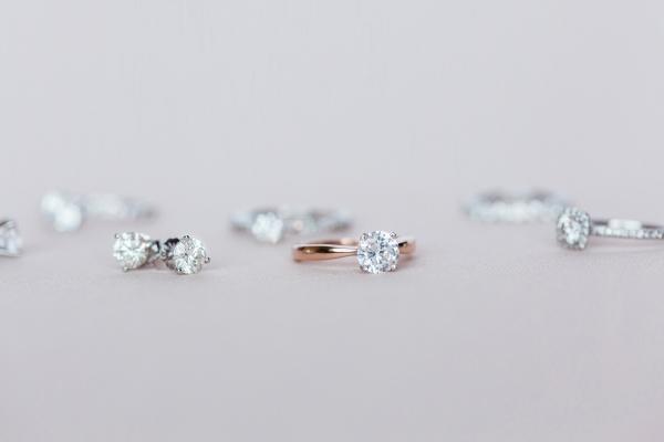 Lab Created Diamond Rings