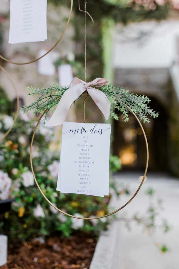 Seating Chart with Hanging Elements