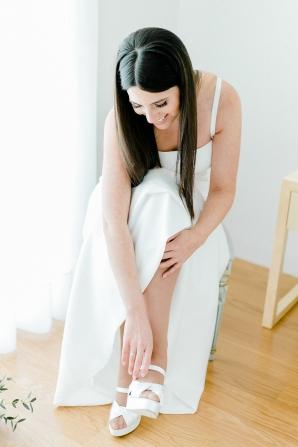 Sleek Hair for Bride