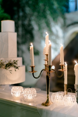 Taper Candles at Wedding