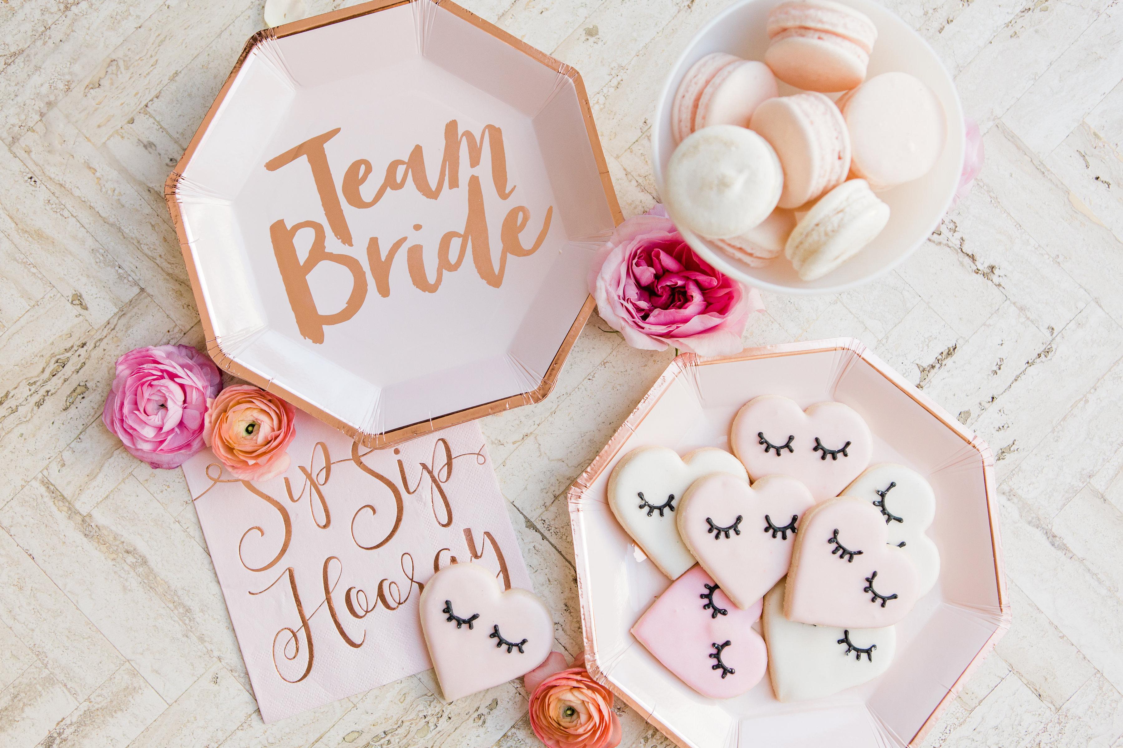 Team Bride Plates
