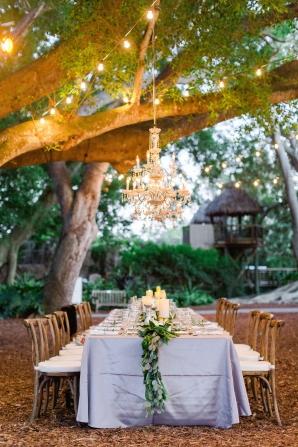 Twilight Wedding Reception Under Lights