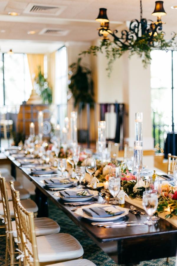 Wood Wedding Reception Tables