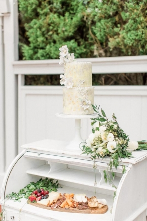 Yellow Whimsical Wedding Cake