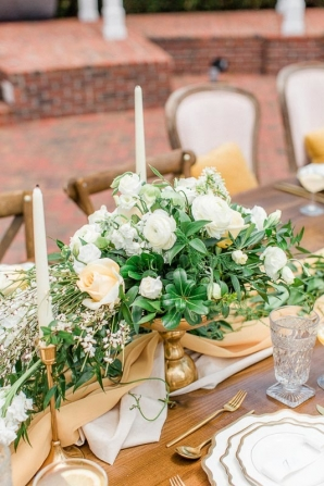 Yellow and Ivory Centerpiece