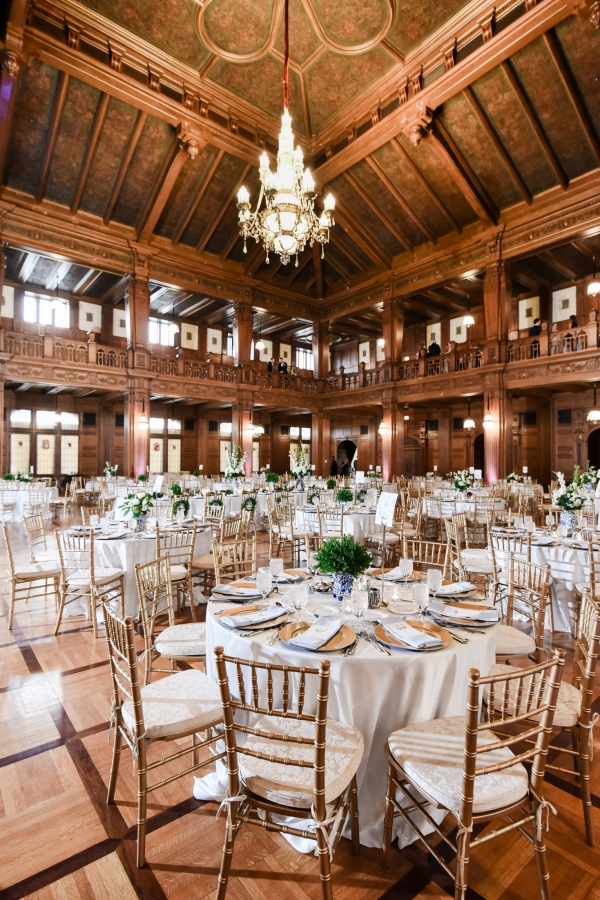 Wedding Reception with Greenery Detail