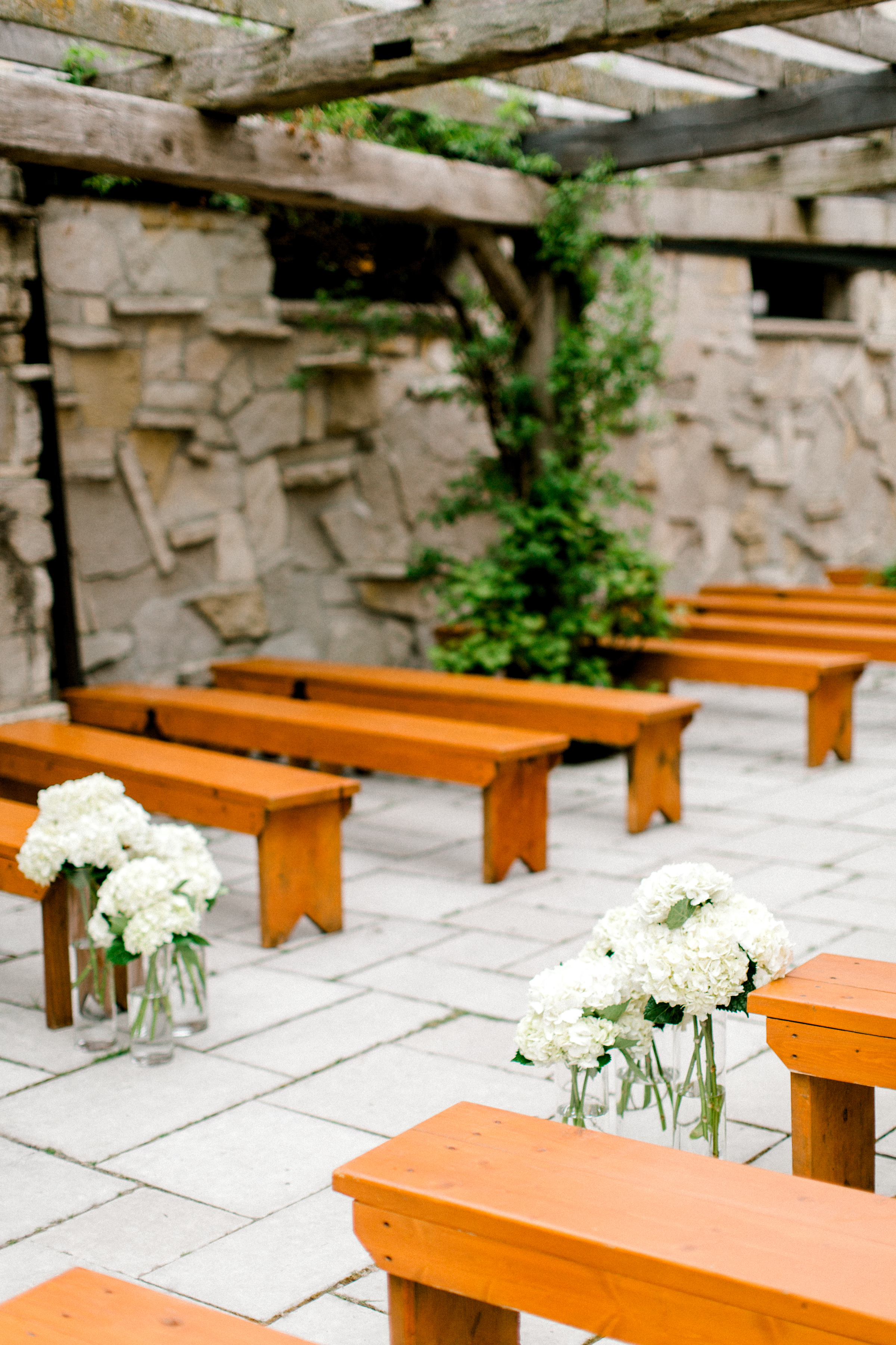 Bench Seating for Wedding Ceremony