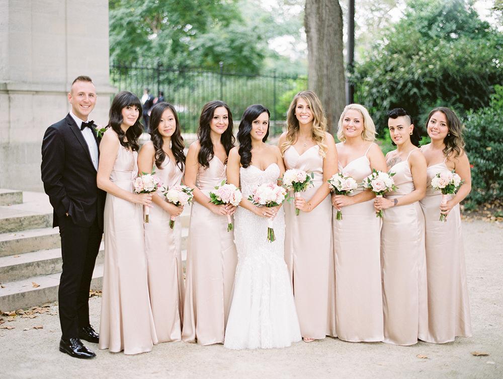 Blush Bridesmaids Dresses 1
