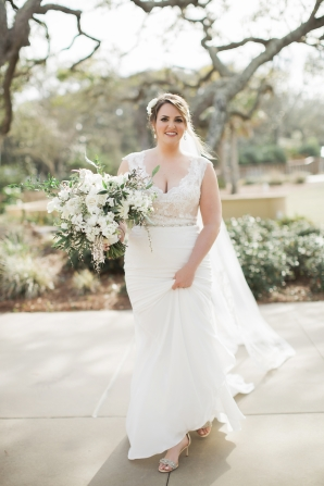 Bridal Gown with Lace Bodice