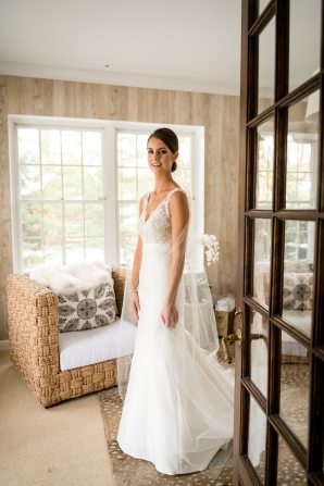 Bride in Carolina Herrera Gown