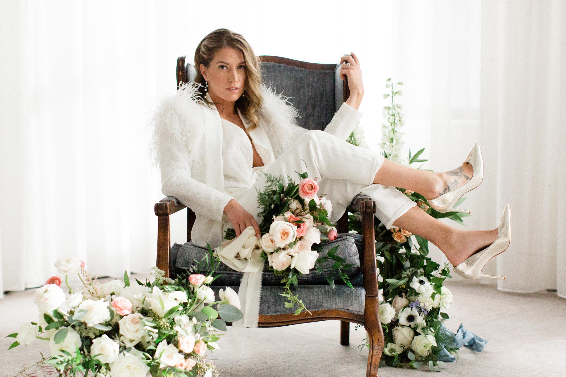 Bride in Pantsuit from Varca Bridal