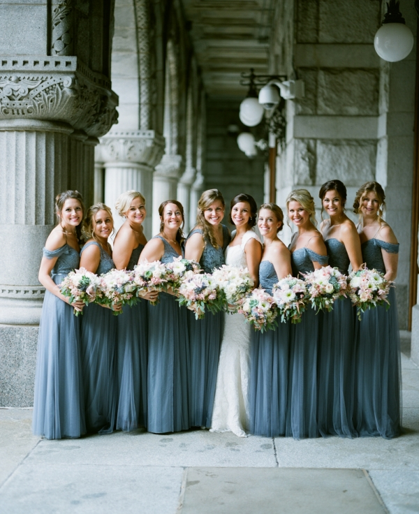 Bridesmaids in Pale Blue