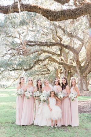 Bridesmaids in Pink Dresses 1