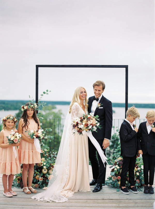 Bright and Warm Colored Wedding Inspiration in Sweden 2 Brides Photography16
