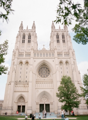 Classic Blush and Gold National Cathedral Wedding Audra Wrisley11