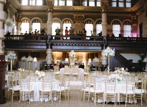 Elegant Gold Ballroom Wedding