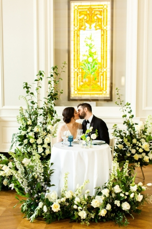 Elegant Hunter Green Wedding Inspiration Alexandra Lee09