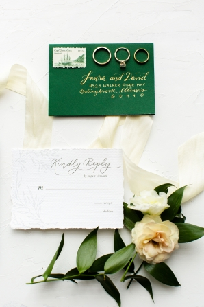 Elegant Hunter Green Wedding Inspiration Alexandra Lee11