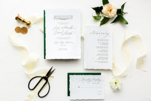 Elegant Hunter Green Wedding Inspiration Alexandra Lee12