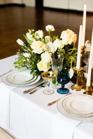 Elegant Hunter Green Wedding Inspiration Alexandra Lee44