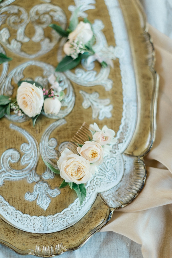 Floral Wedding Hair Detail