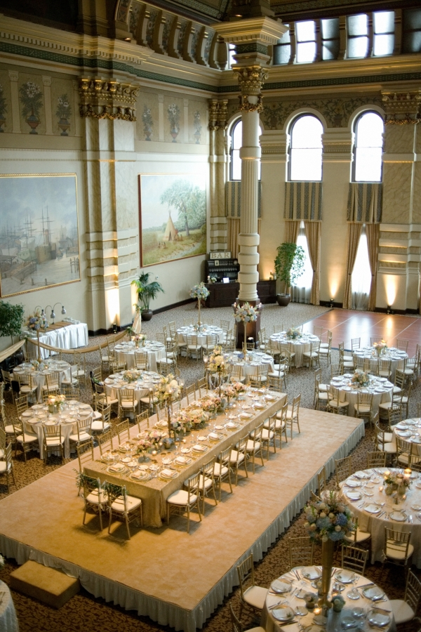 Glamorous Gold Wedding Reception