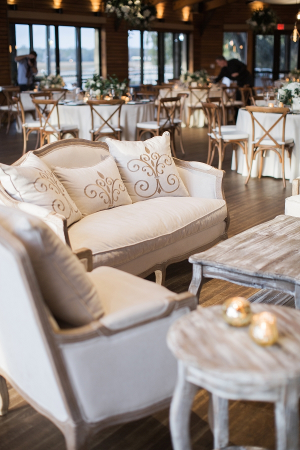 Gold and White Wedding Lounge
