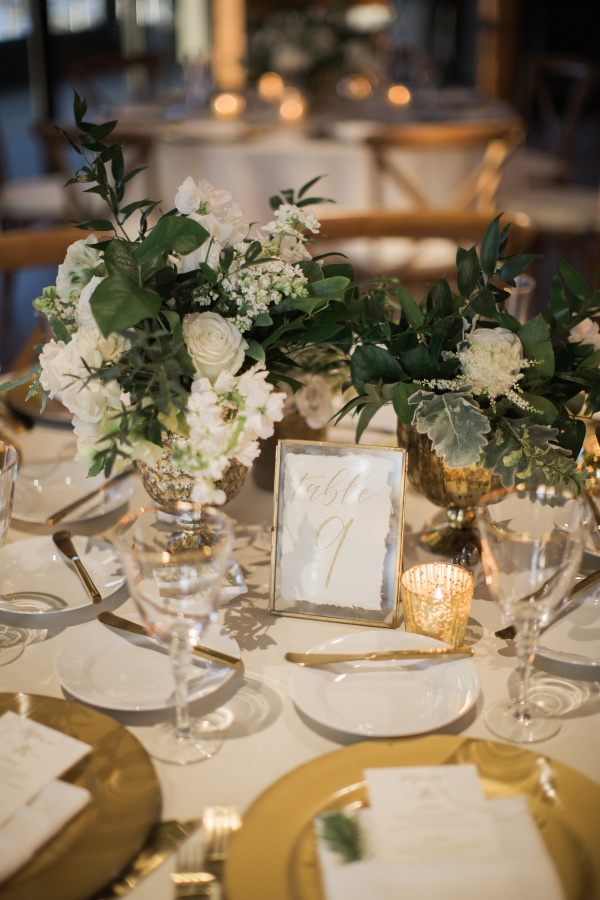 Green and Gold Centerpiece 2