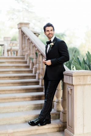 Groom in Classic Black Slim Tux