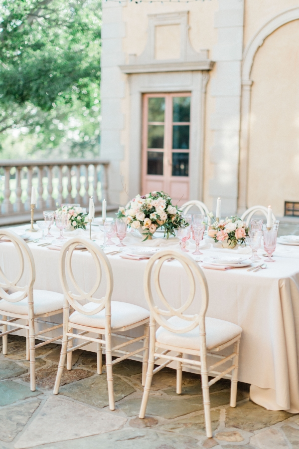 Ivory and Peach Wedding Reception