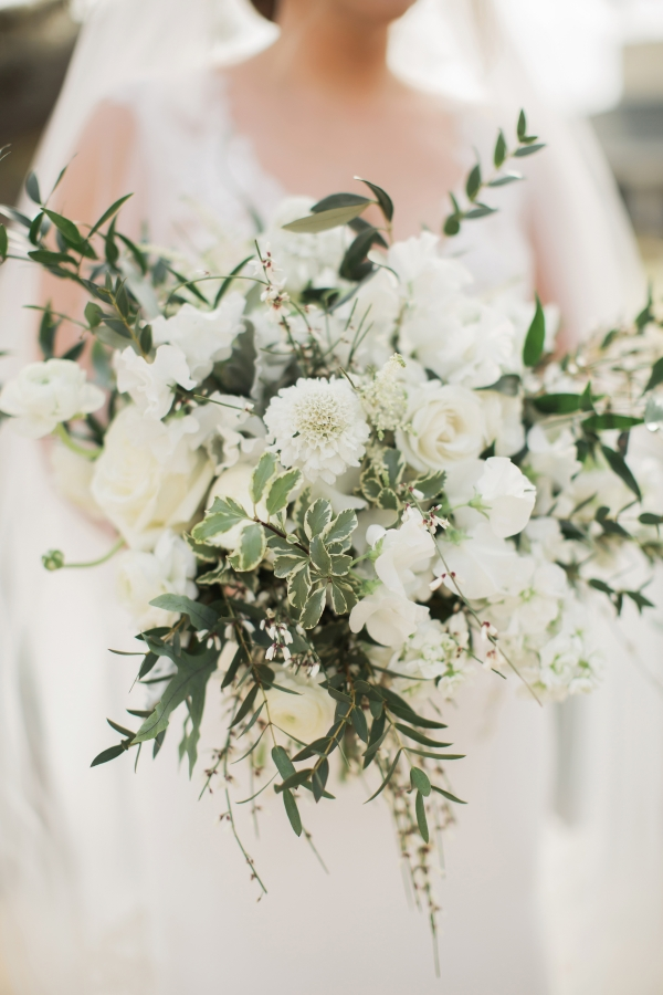 Large Greeney and White Flower Bouquet