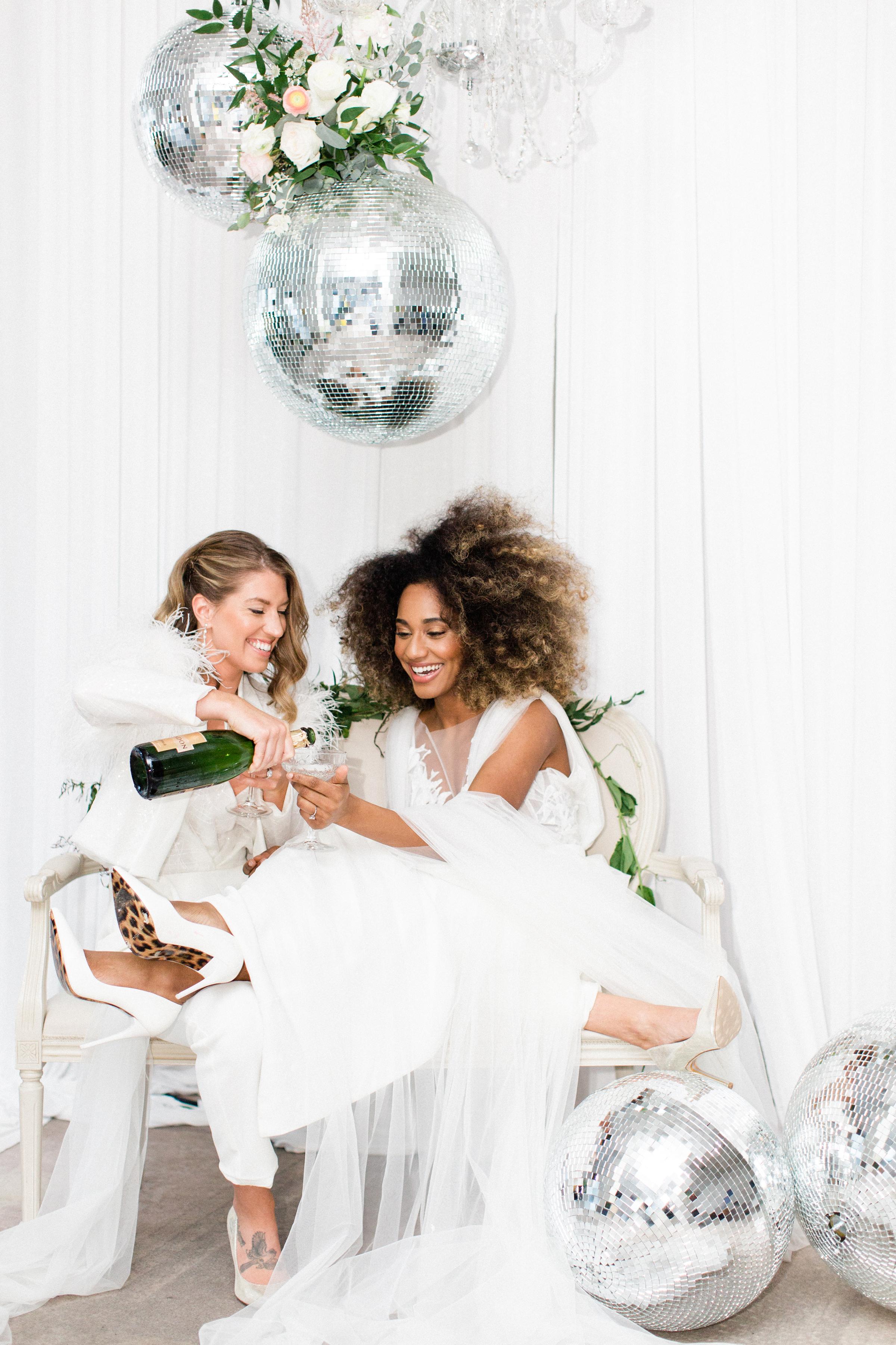Modern Chic Wedding with Disco Balls