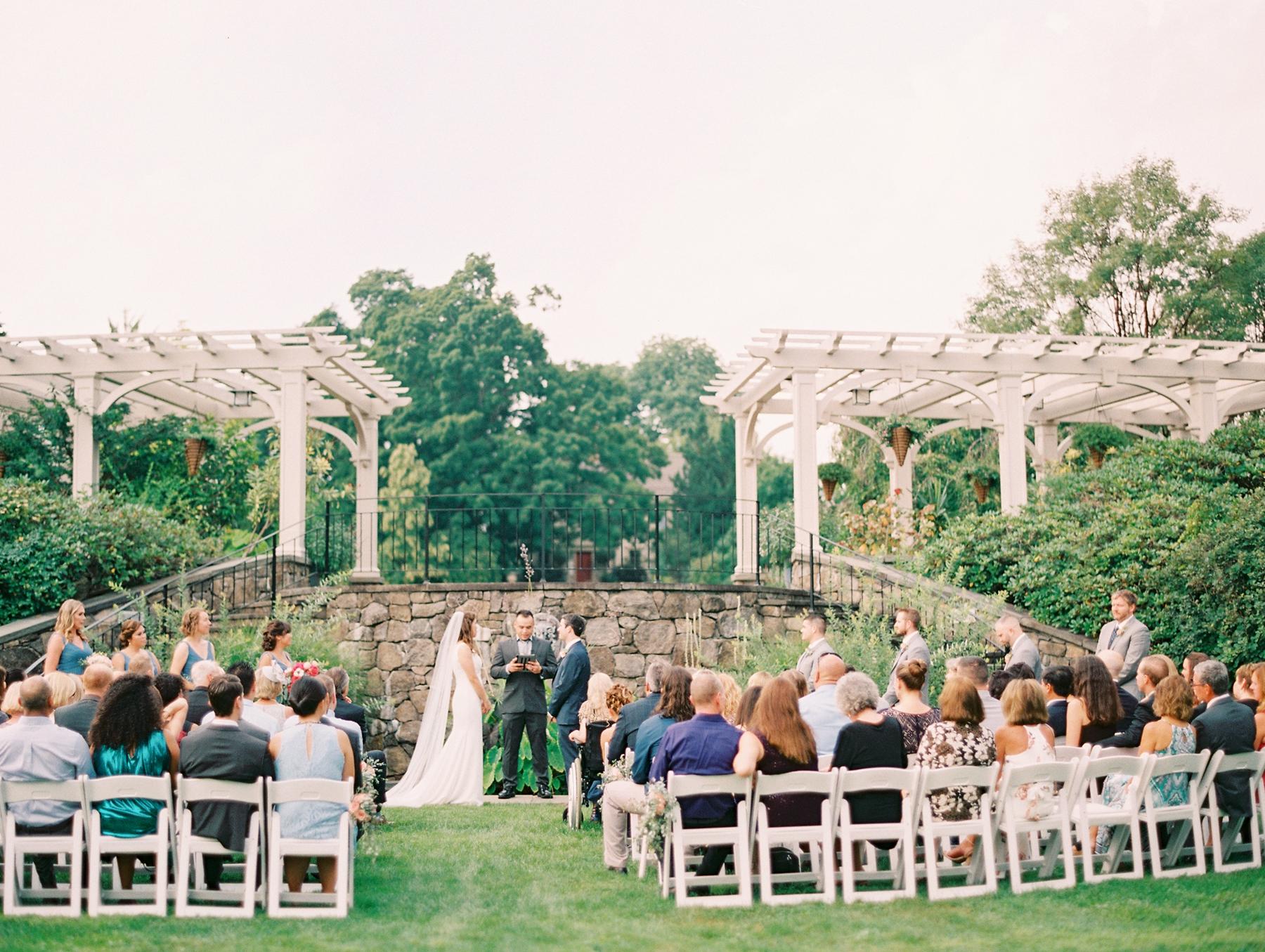 Outdoor Wedding Ceremony at Botanical Garden