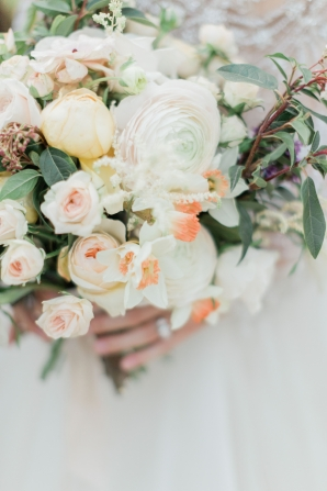 Pale Peach and Yellow Bouquet