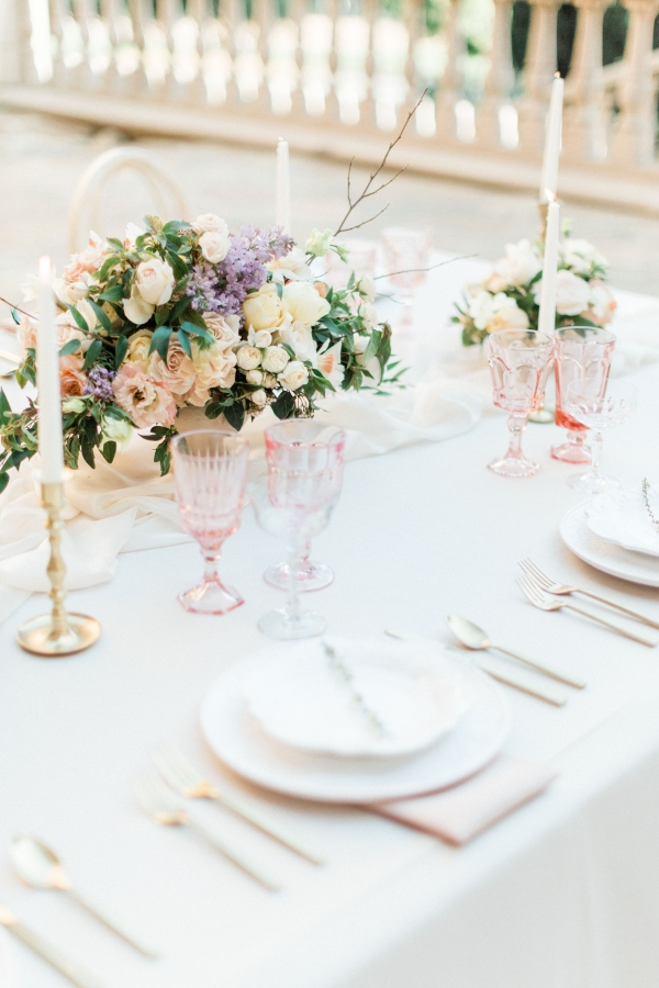Pastel Wedding Place Setting