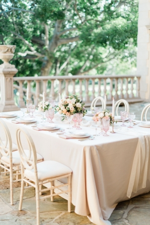 Peach and Ivory Wedding Reception